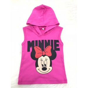 Singlet Hooded Pink Minnie Mouse