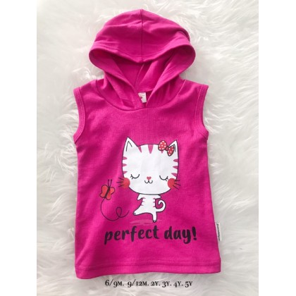 Singlet Hooded Pink Perfect Day