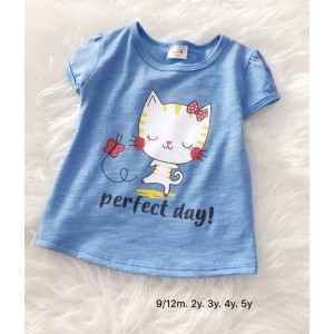 Girl Tshirt -  Blue Perfect Day