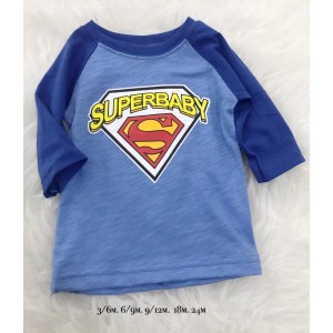 3QUARTER TOP - Blue Superbaby Superman
