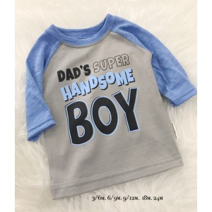3QUARTER TOP - Blue Grey Dads Super Handsome Boy