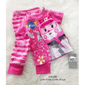 Caluby Baby PJ-Amber Pink