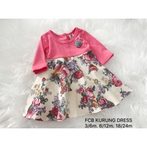 #1536 BABY KURUNG DRESS ~ Pink Cream Vintage