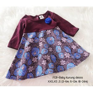 #1536 BABY KURUNG DRESS ~ Maroon