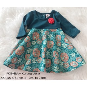 #1536 BABY KURUNG DRESS ~ Green
