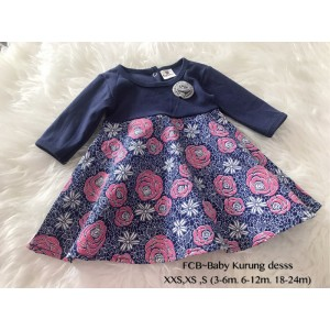 #1536 BABY KURUNG DRESS ~ Navy