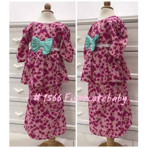 1566 Vintage Traidition Kurung-Pink Small Floral
