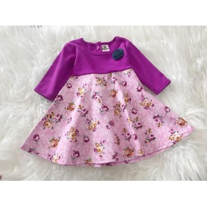 #1536 BABY KURUNG DRESS ~ Purple Pink Vintage Rose