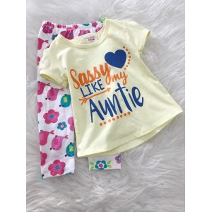 Girl Set -Yellow Sassy Like Auntie