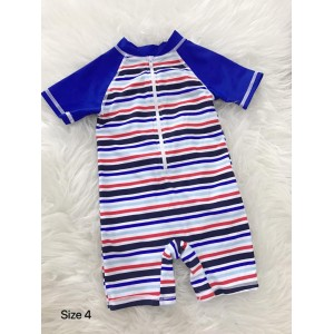 Swimsuit - Royal Blue Stripe