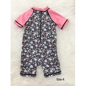 Swimsuit - Pink Black Little Floral