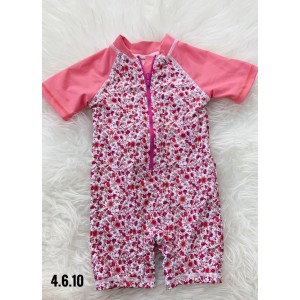 Swimsuit -Pink Red Little Flora
