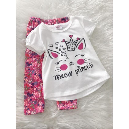Girl Set -White Meow Princess