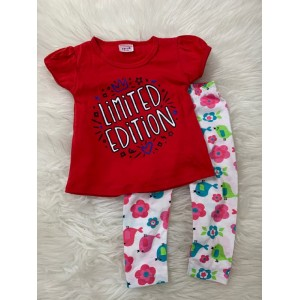 Girl Set -Red Limited With Chic Pant