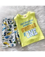 Singlet Boy Set -Yellow Granma is One