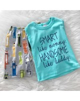 Singlet Boy Set -Turq Blue Smart