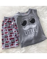 Singlet Boy Set -Grey Little Man
