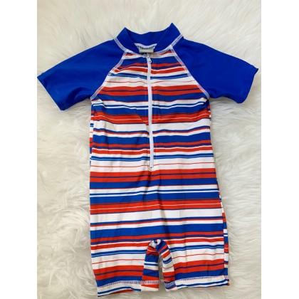 Swimsuit -Red blue white stripe