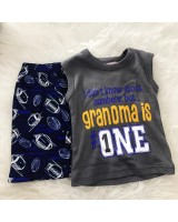 Singlet Boy Set -Grey Grandma no 1