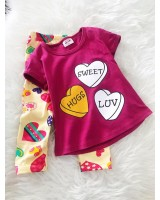 Girl Set -Hot Pink Sweet With Love Pant