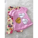 Girl Set -Pink Sweet With Love Pant