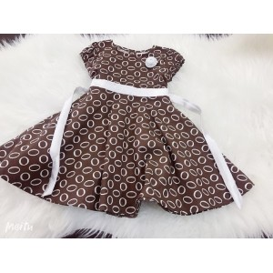 #1267 England Cotton -Brown With Sliver Belt