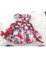 #1267 England Cotton -Red White Rose