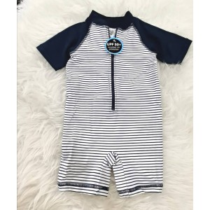 Swimsuit -Navy White Small Layer