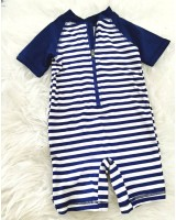 Swimsuit -Blue White Small Layer