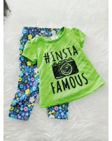 Girl Set- Green Insta With Blue Pant