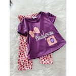 Girl Set-Purple Insta With Pink Little Floral Pant