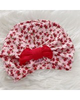 Turban Baby -Pink Red Floral