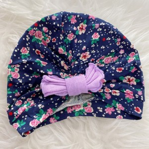 Turban Baby -Navy Flower