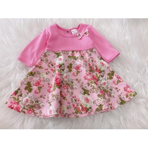 #1536 BABY KURUNG DRESS -Pink Rose