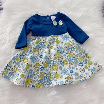 #1536 BABY KURUNG DRESS -515 Blue flower