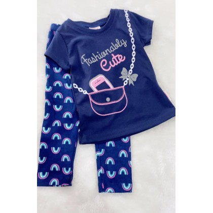 Girl Set-306 Navy Fashion Lady With Navy Pant