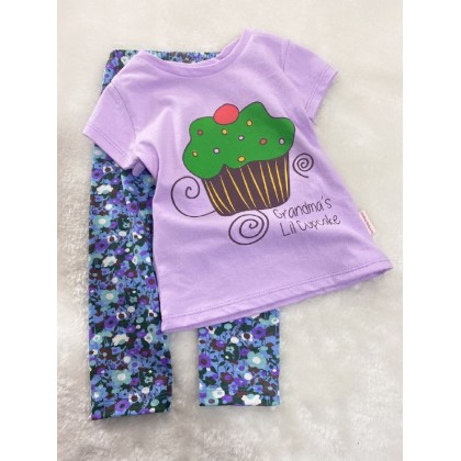Girl Set-724 Purple Cupcake