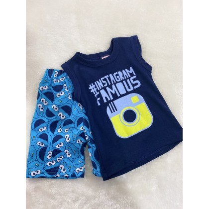 Singlet Boy Set - 724 Dark Blue Insta