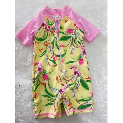 Swimsuit -048 Pink Yellow