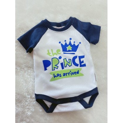 Baby Romper  ~#239 Navy White The Prince Has Arrive