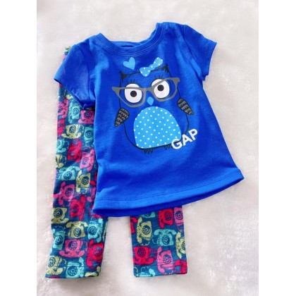 Girl Set-#910 Blue Owl With Blue Pant