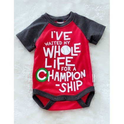 Baby Romper  ~#1512 Red Whole Life