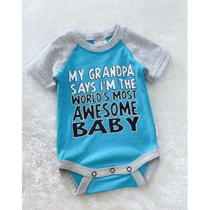 Baby Romper  ~#1512 Turq Awesome
