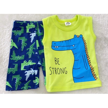 Singlet Boy Set-#2904 Lime Be Strong