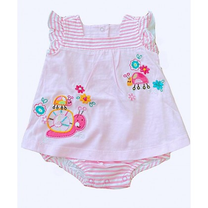 Carter Embroidry Romper Dress~~Ready Now